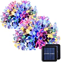 easyDecor Solar String Lights 50 LED 23ft 8 Modes Blossom Flower Garden Christmas Lights for Outdoor Indoor Party Wedding Patio Holiday Decorations (Multi Color) (2 Pack)