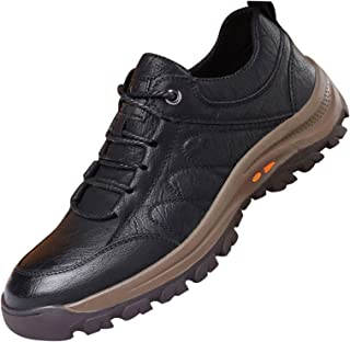 QKFON Scarpe Alpinismo All'aperto Caldo e Impermeabile Uomo Scarpe PU Pelle Antiscivolo Sneakers