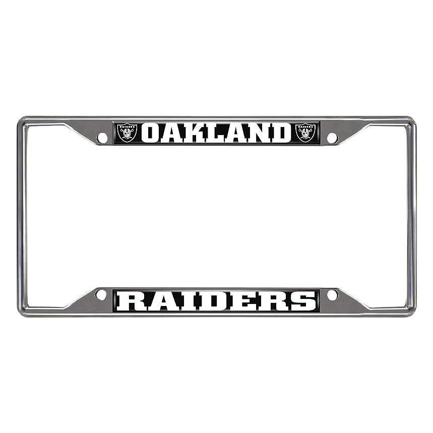 FAN MATS 15035 NFL Oakland Raiders Ez View Heavy Duty Chrome Metal License Plate Frame