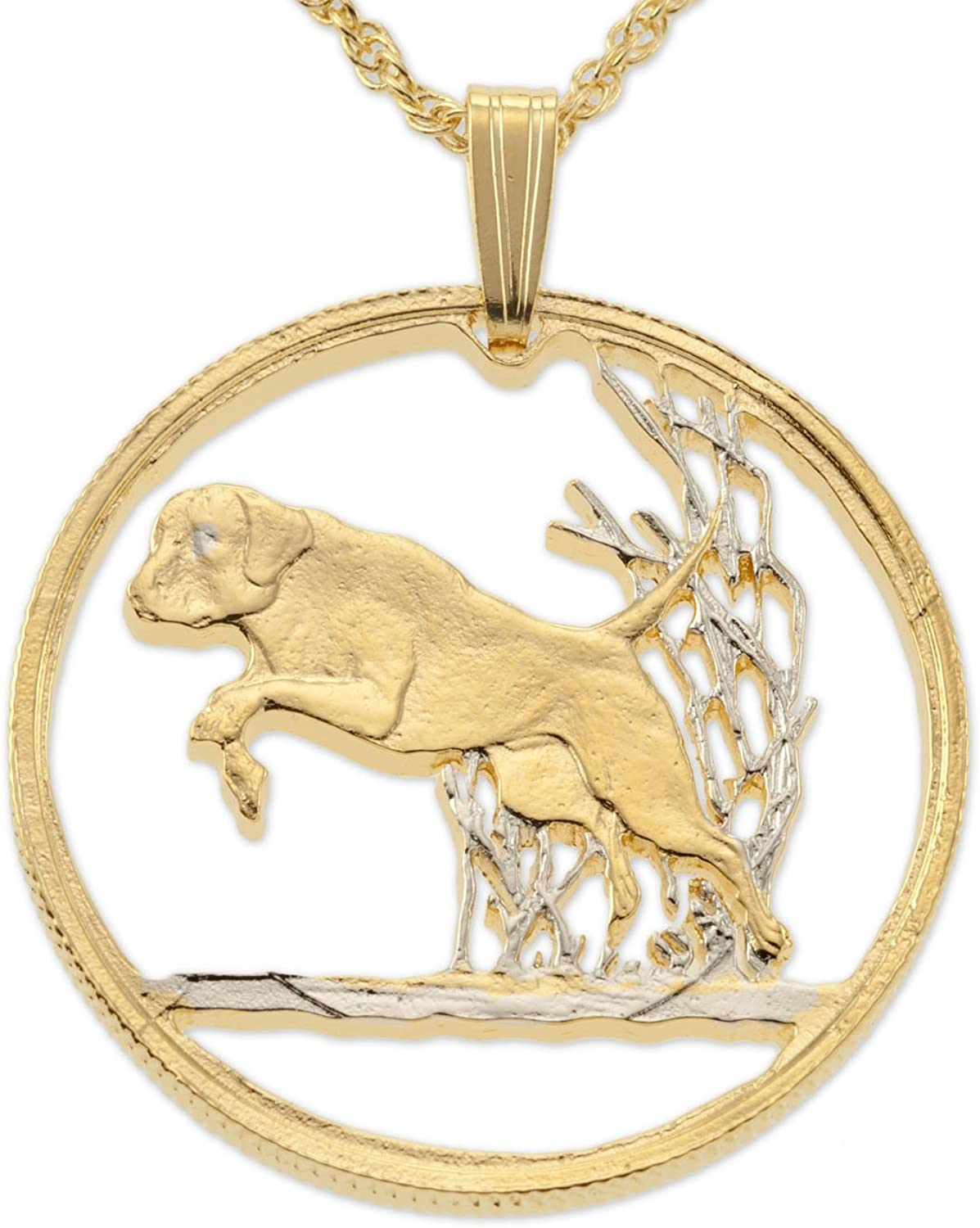 Labrador Retriever Pendant Canada Coin Fixed price for sale Hand Karat 14 New product Gold Cut