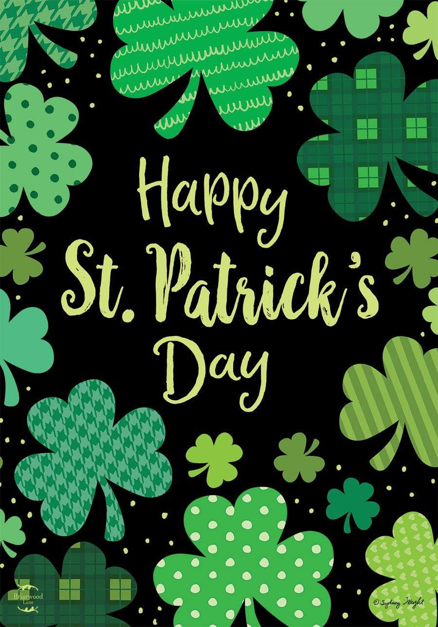 Briarwood Lane St. Patrick's Day Clovers House Flag Shamrocks Holiday 28