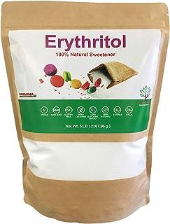 NAMANNA Erythritol Sweetener (5 lb) - Zero Calories, Non-GMO, Natural Sugar Alternative, Keto, Granular