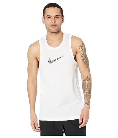 Nike Dry Top Sleeveless Crossover (White/Black) Men