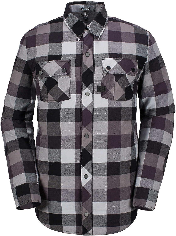 Volcom Black Simons Insulated Flannel Long Sleeved Snowboarding Shirt