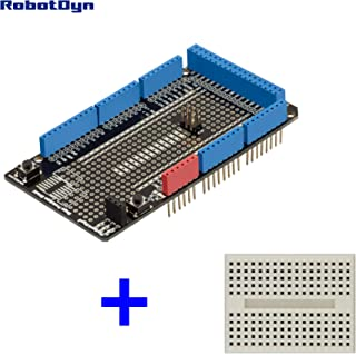 1 PCS Mega Prototype Shield with Mini breadboard Compatible with Arduino Mega 2560 –Mega 2560 Protoshield Prototype Shield Compatible with Arduino Mega 2560, Arduino Mega Shield with Mini breadboard
