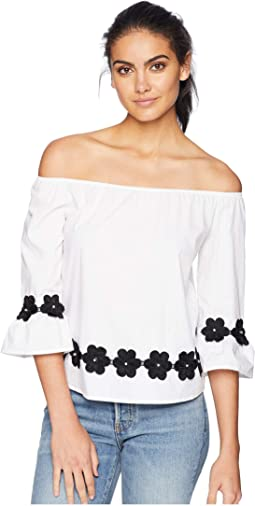 Floral Embroidery Detail Top