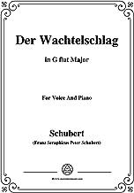 Schubert-Der Wachtelschlag,Op.68,in G flat Major,for Voice&Piano (French Edition)