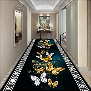 3D Runner Rug for Hallway, Washable Non Slip Not Fade Floor Rugs, 0.6cm Thick Absorbent Entryway Carpet for Bedroom Porch ...