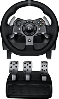 (Renewed) Logitech G920 Dual-motor Feedback Driving Force Racing Wheel with Responsive Pedals for Xbox One
