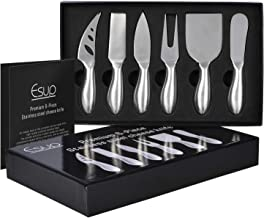 Cheese Knife Set, Esup Premium 6-Piece Stainless Steel Cheese knives Set with Gift Box, Perfect Gift for Weddings, Housewa...