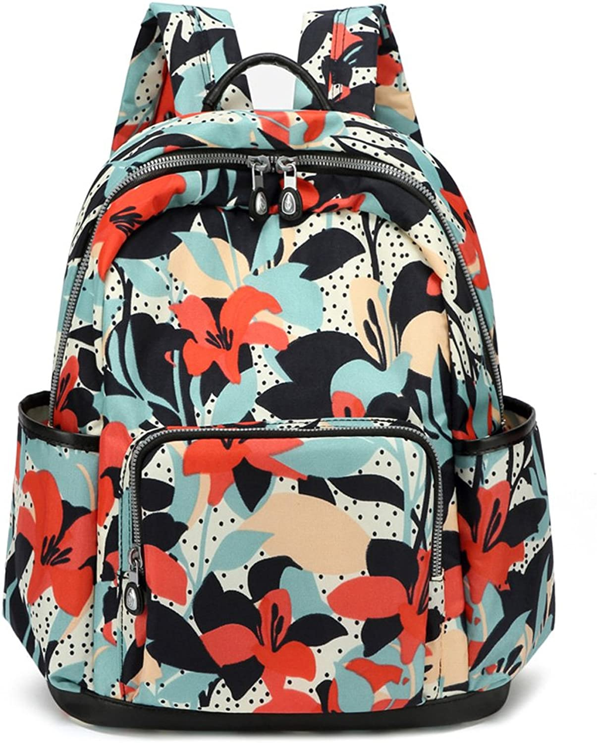 CJH Fashion Leisure Wild Trend Shoulder Bag Printing Oxford Canvas Bag Student Backpack