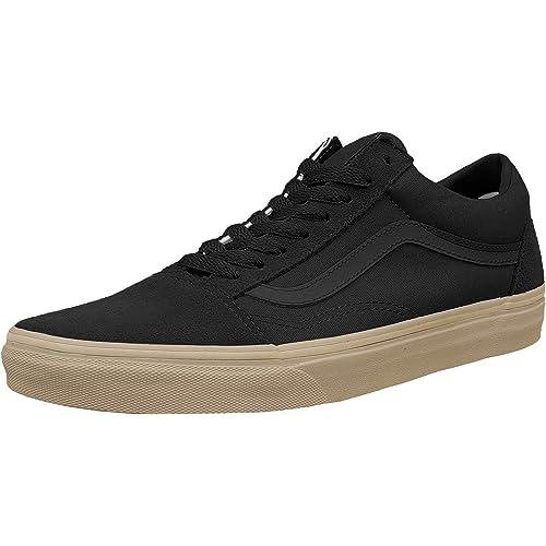 black vans gum sole uk