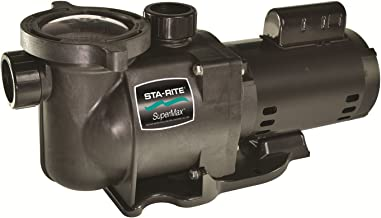 Pentair Sta-Rite PHKN2RA6C-100L SuperMax Single Speed Standard Efficiency High Performance Inground Pool Pump without Union, 1/2 HP, 115-Volt