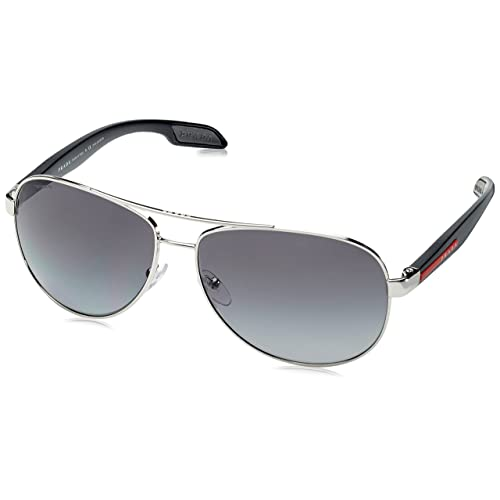 2883f220176907 Prada Sport PS53PS 1BC5W1 Grey Steel Benbow Pilot Sunglasses Polarised Lens  Cat