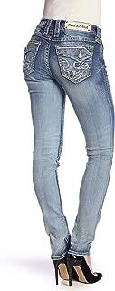 Stacia MS200 Skinny Jeans Faded Stretch Flap Pocket