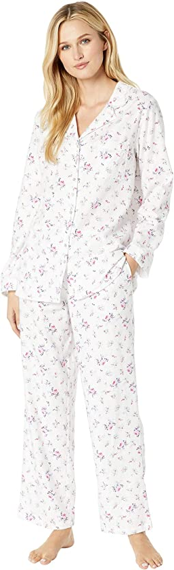 Flannel Notch Collar Pajama Set