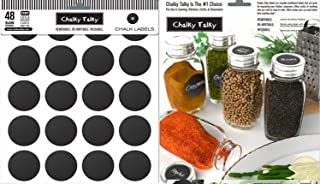 Spice Labels for Jars - Round Labels for Jars - Fit Karmentstein Spice Jars and Labels for Use in Spice Racks - Blank To Customize