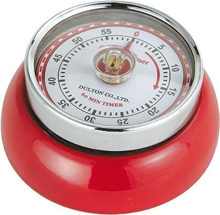 Zassenhaus Retro Kitchen Timer Magnetic Red