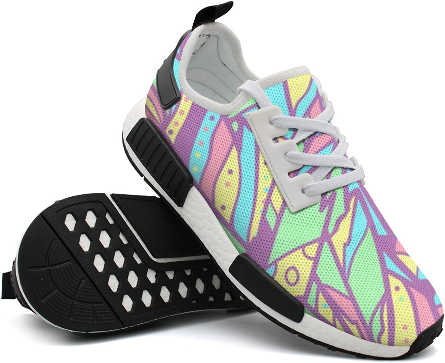 Colourful Feathers Women Active Unique Fashion Running shoes Top Man