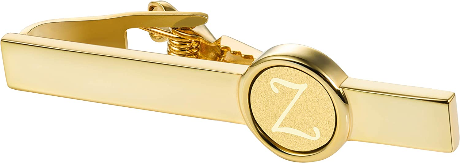 HAWSON 2 inch Indianapolis Mall Import Tie Clips and Cufflinks Men for Gold Sets Engr A-Z