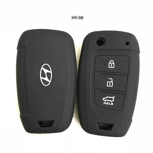 Autoxygen Silicone Remote Key Cover For Hyundai Verna 2017 Onwards 3 Button Flip Key (Set Of 2 pcs.)