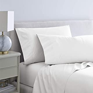Martex Purity 300 Thread Count Antimicrobial Sheet Set with SILVERbac, Full, White