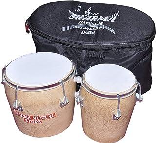 バッグ付きインド古典楽器シャルマ楽器店木製ボンゴ