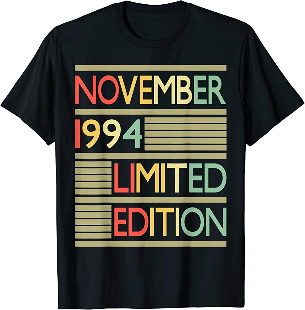 25 Years Old Shirt- 25th Birthday Gift November 1994 T-shirt