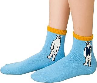 BENJAMIN 刺繍入り ロークルーソックス (POLAR BEAR) 靴下 レディース