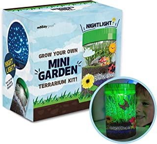 Moody Goat Terrarium Kit for Kids - Create Your Own Miniature Garden - Fantastic DIY Craft for Learning and Education- Stem Toy Certified - Gifts for Boys and Girls Age 6, 7, 8, 9, 10 Year Old
