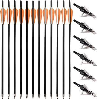 30 Zoll Armbrustpfeile Bolzen Carbon Pfeile Armbrustbolzen Bogenschießen Jagd