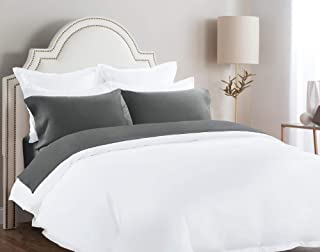 Briarwood Home Bed Flannel Sheet Set – 100% Cotton Heather Bedding – Wrinkle & Fade Resistant – Soft & Comfortable – Deep Pocket, Easy Fit - 4 Piece Sheets & Pillow Set (Charcoal Grey, Full)