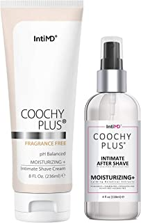 Coochy Plus Intimate Shaving Complete Kit - FRAGRANCE FREE & After Shave Protection Soothing Moisturizer Mist – Antibacter...