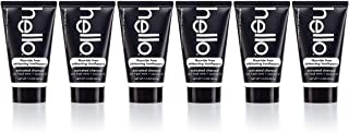 Hello Oral Care Activated Charcoal Epic Whitening SLS Free and Fluoride Free Trial & Travel Toothpaste, 6 Count
