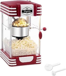 Bredeco BCPK-300-WR Machine à Popcorn Pop Corn Maker (300 W / 100 s, Quantité de Maïs 57 g, Revêtement en Téflon, Cuillère...