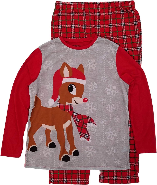 Rudolph The Red Nosed Reindeer Mens Long Sleeve Shirt Sleepwear Pajama Set