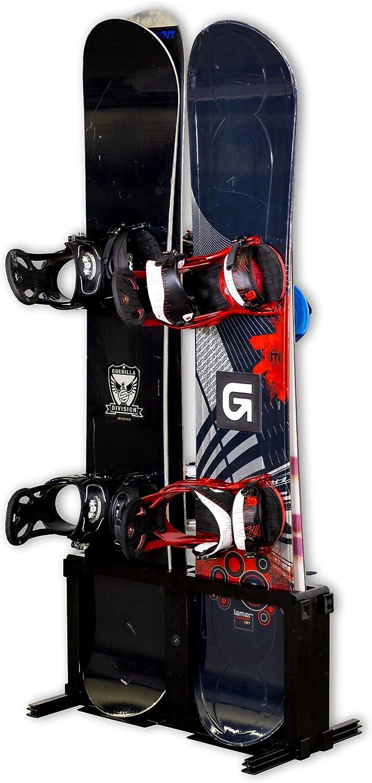 StoreYourBoard Snowboard Storage Rack, Freestanding Snowboard Floor Rack, 4 Boards : Sports & Outdoors