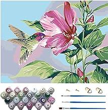 DIY Oil Painting Kits, 40 * 50cm Canvas (Without Frame), 3Pcs Paintbrushes and 23 Colors Paint, Paint by Numbers Landscap...