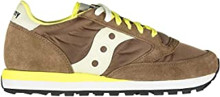 Saucony Sneaker Jazz in Suede E Nylon Marrone, Taglia UK: