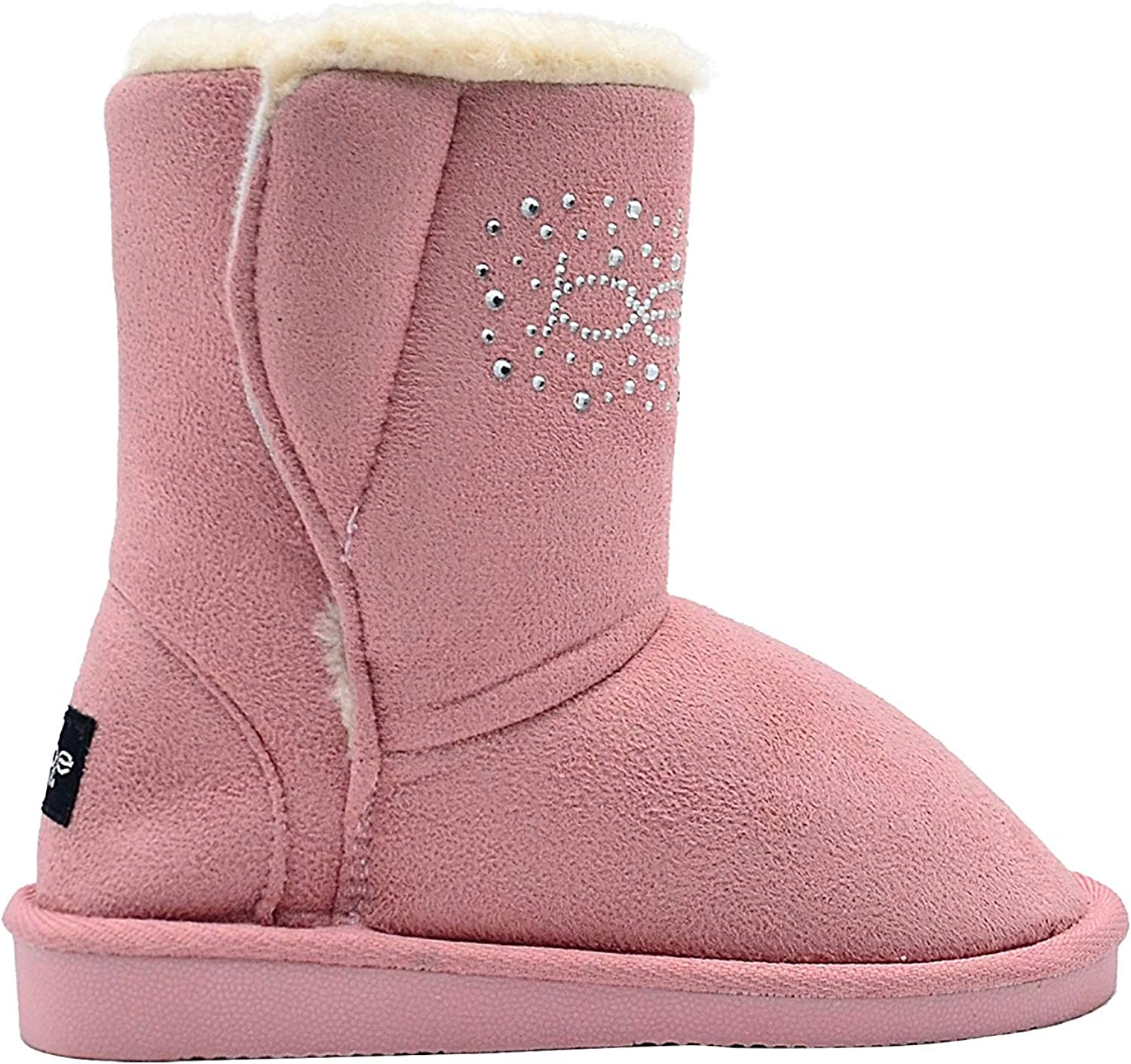 bebe Girls Colorado Springs New color Mall Big Kid Mid Calf Boots Easy Microsuede Pull-On Winter