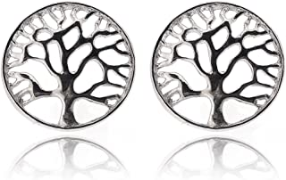 Sovats Tree Of Life Earring For Women 925 Sterling Silver Rhodium Plated - Simple, Stylish Stud Earrings&Trendy Nickel Fre...