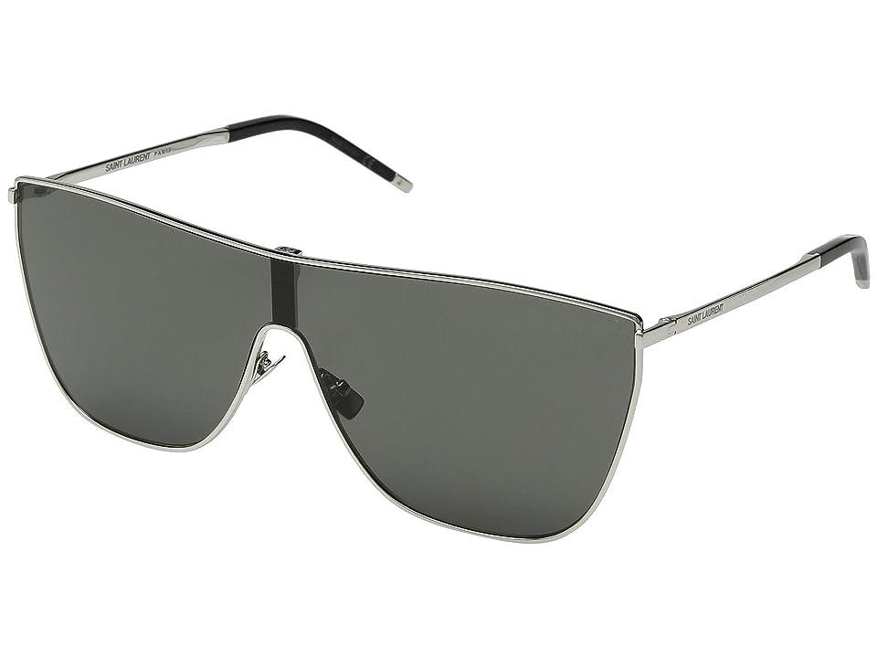 cf5bdad2007 Saint Laurent SL 1 Mask (Silver Black) Fashion Sunglasses