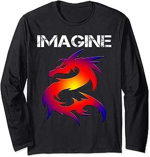 IMAGINE Fantasy Dragon Style Long Sleeve T-Shirt Great Gift