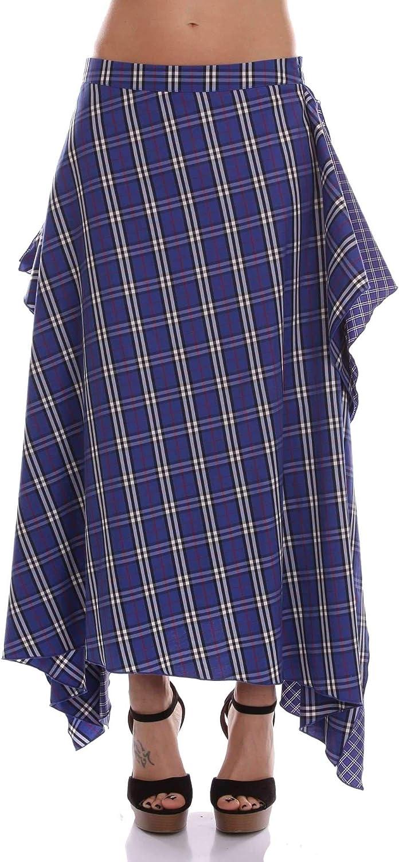 Akep Women's KE720blueE bluee Cotton Skirt