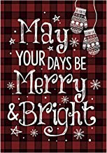 Morigins May Your Days Be Merry and Bright Decorative Christmas Winter Garden Flag 12.5x18 Inch
