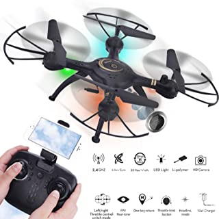 Quadcopter Drone with FPV Remote Control and Aerial Expert with1080P 500W WiFi HD FPV Camera, Altitude Hold Four-axis Aircraft,Telecontrol six channel,Wireless Transmission for Beginngers and Adults