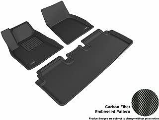 3D MAXpider Complete Set Custom Fit All-Weather Floor Mat for Select Tesla Model S Models - Kagu Rubber (Black)
