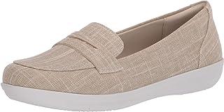 حذاء نسائي بدون كعب من CLARKS بتصميم Ayla من الكتان الطبيعي، مقاس 8 M أمريكي