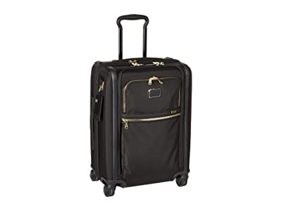Tumi Alpha 3 Continental Dual Access 4 Wheeled Carry-On (Black/Gold) Luggage