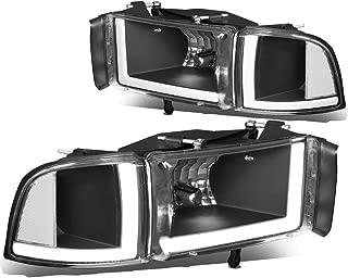 For 94-02 Dodge Ram 1500/2500/3500 Pair Black Housing Clear Corner LED DRL Headlight/Lamps